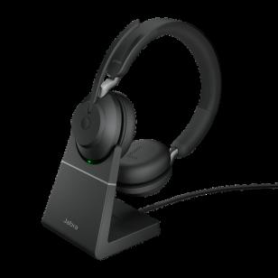 Jabra Evolve2 65 UC Stereo BT USB-A Headset inkl. Ladestation schwarz