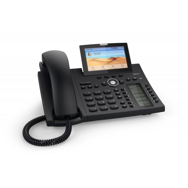 Snom D385 SIP schwarz Tischtelefon