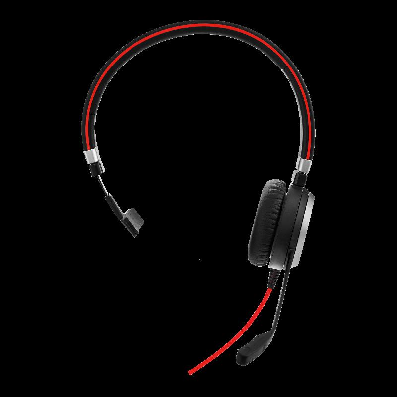 Jabra Evolve 40 UC Mono USB-C Headset Vorne