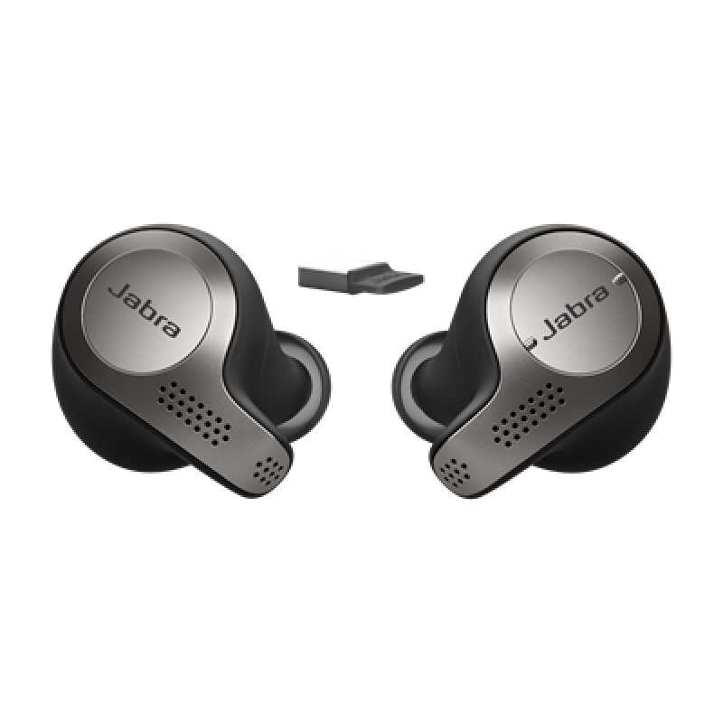 Jabra Evolve 65t MS Headset Titanium Black